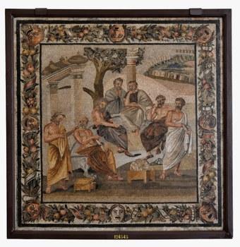 Il mosaico dei Sette Filosofi da Pompei conservato oggi al Museo Archeologico Nazionale di Napoli.